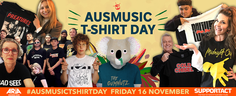 Friday is Ausmusic T-Shirt Day